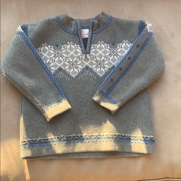 Hanna Andersson Grey Fair Isle Nordic Sweater
